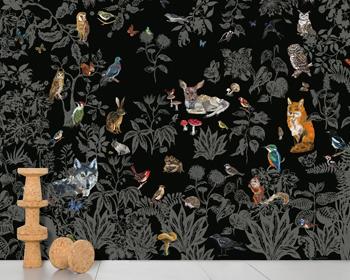Forêt noire Papier peint