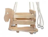 Balançoire cheval en bois