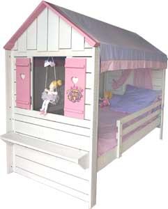 lit cabane pour princesse la d co d cod e. Black Bedroom Furniture Sets. Home Design Ideas