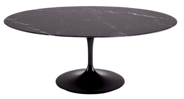table manger ovale en marbre noir tulipe saarinen by knoll la d co d cod e. Black Bedroom Furniture Sets. Home Design Ideas