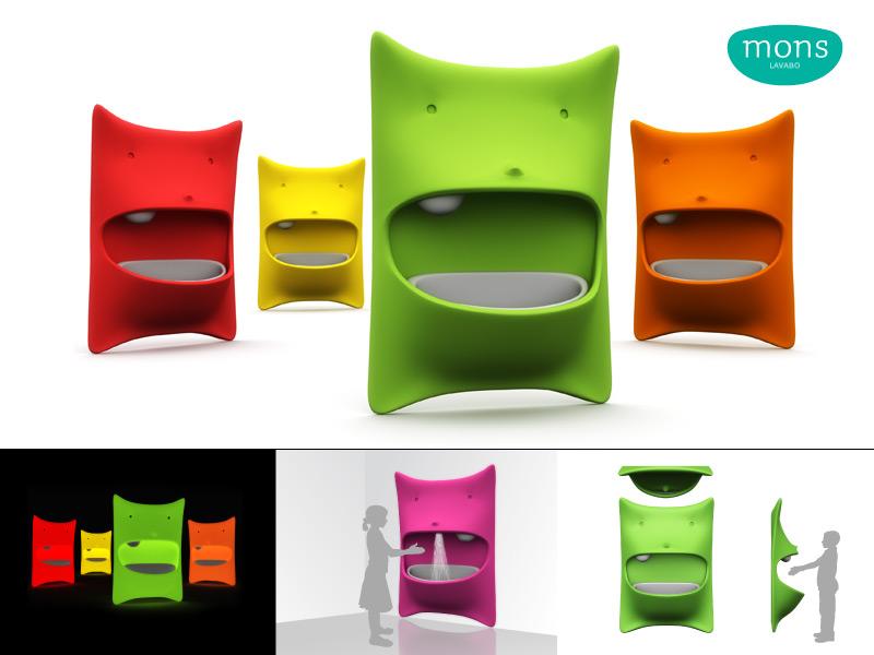 lavabo pour enfant exceptionnel original design et terriblement rigolo la d co d cod e. Black Bedroom Furniture Sets. Home Design Ideas