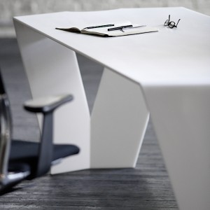 Bureau design en corian la d co d cod e for Bureau design 1 m