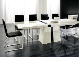 Table factory pur e laqu e blanche et extensible belle for Table blanche a rallonge