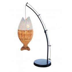 Lampe canne à pêche poisson