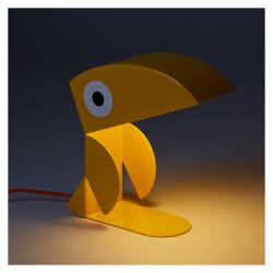 Lampe toucan jaune bleu by Carmin