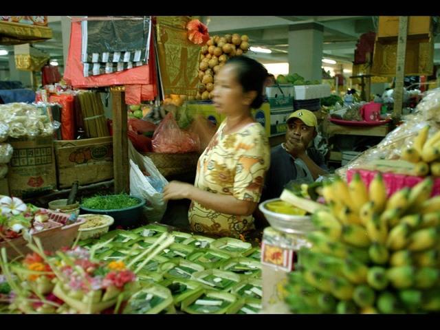 Le marché de Denpasar (la capitale)